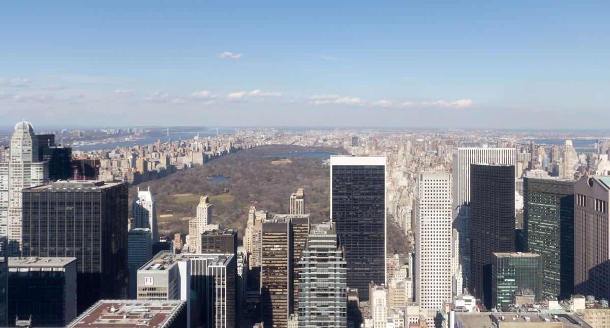 New York Sehenswürdigkeiten: Top of the Rock Aussicht auf Central Park