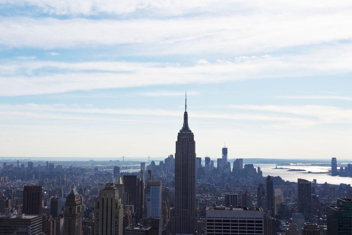 New York Sehenswürdigkeiten Aussichtsplattform Rockefeller Center