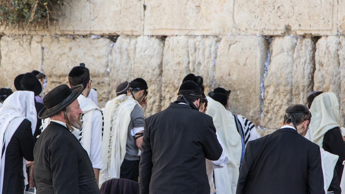 Jerusalem Klagemauer Männer