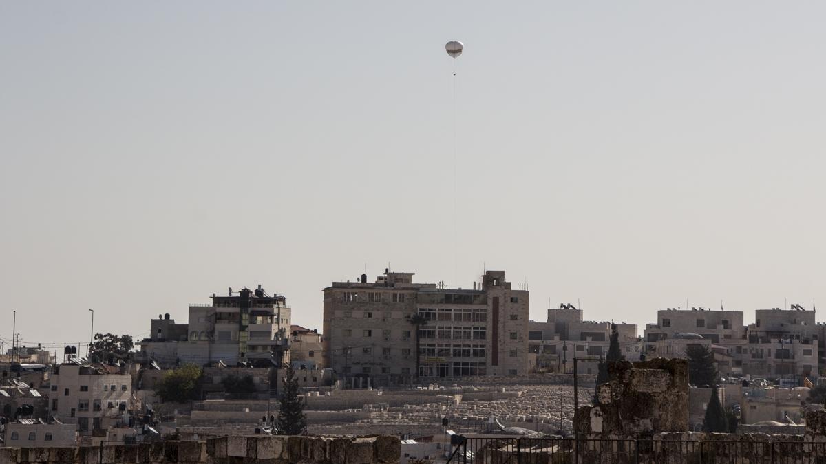 Jerusalem Sicherheit Überwachung aus der Luft