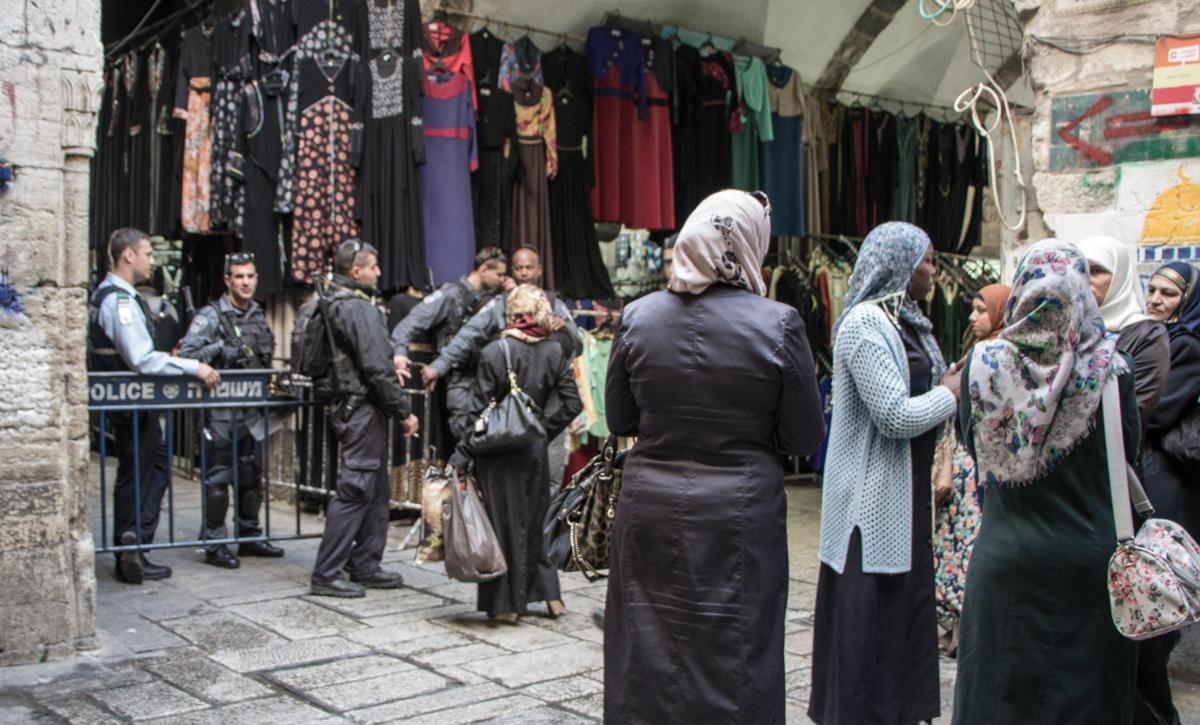 Jerusalem Israel Tempelberg Zugang gesperrt