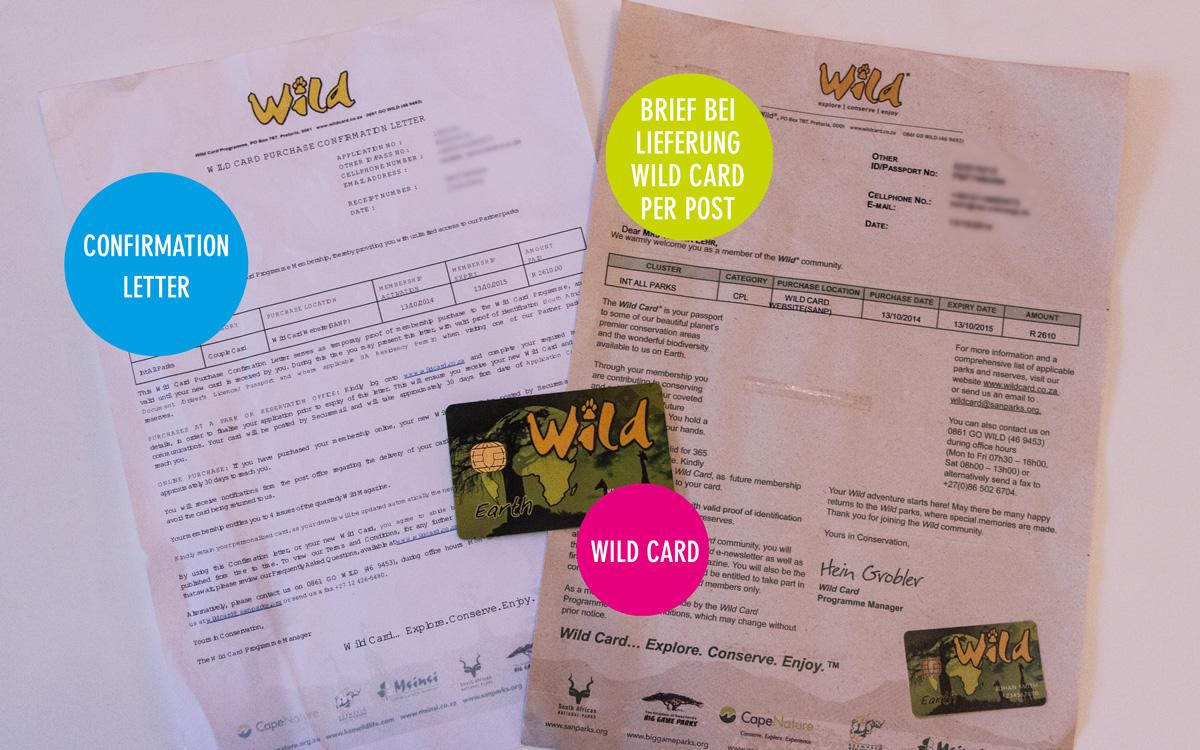 Wild Card Südafrika kaufen Confirmation Letter