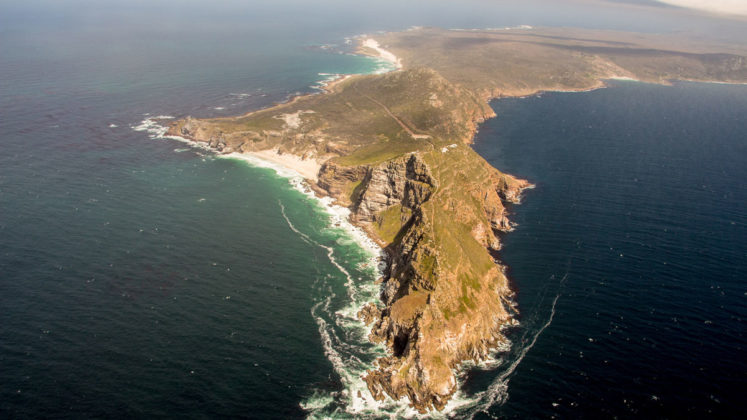 helikopter flug bis zum cape point