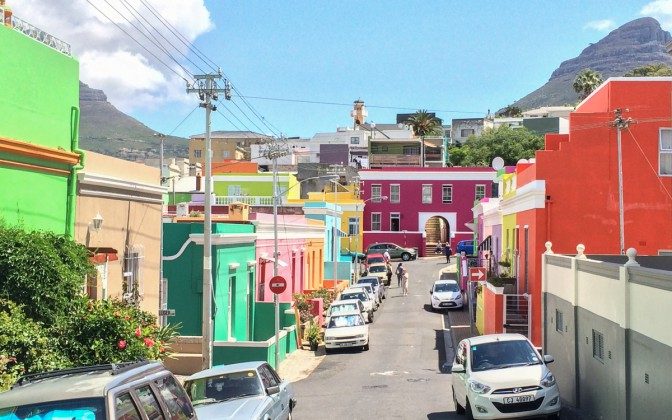 Kapstadt Bo-Kaap Bunte Häuser
