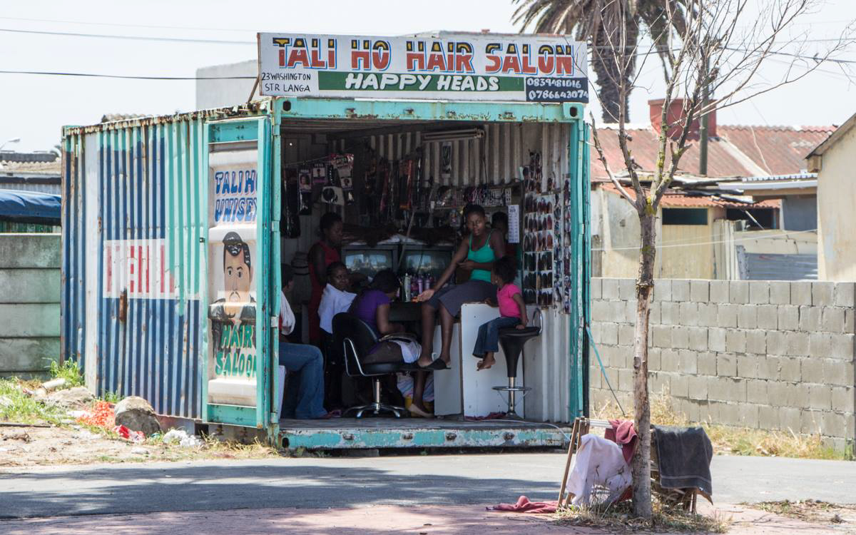Friseur im Langa Township von Kapstadt