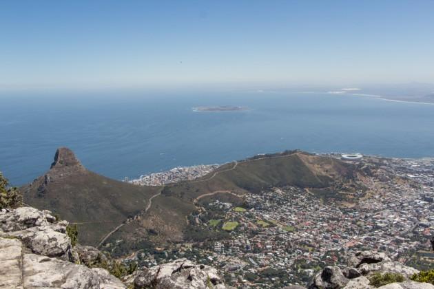 Tafelberg Aussicht auf Kapstadt