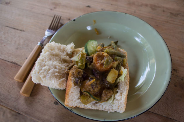 Local Food at Soweto Backpackes
