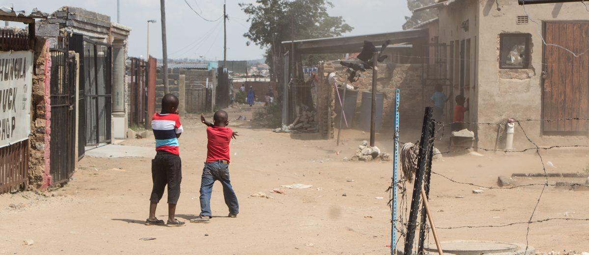 Staubig in Soweto Johannesburg
