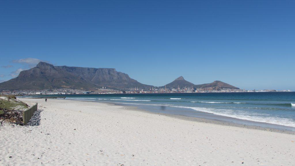 Bloubergstrand Tafelberg Kapstadt