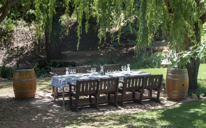 Delheim Weingut Stellenbosch Garten