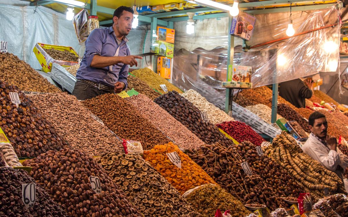 djemma el fna-verkäufer