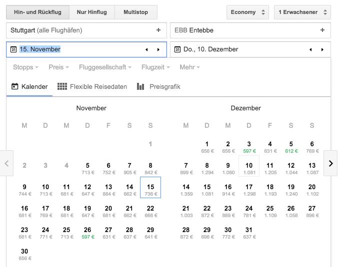 flug buchen mit google flights