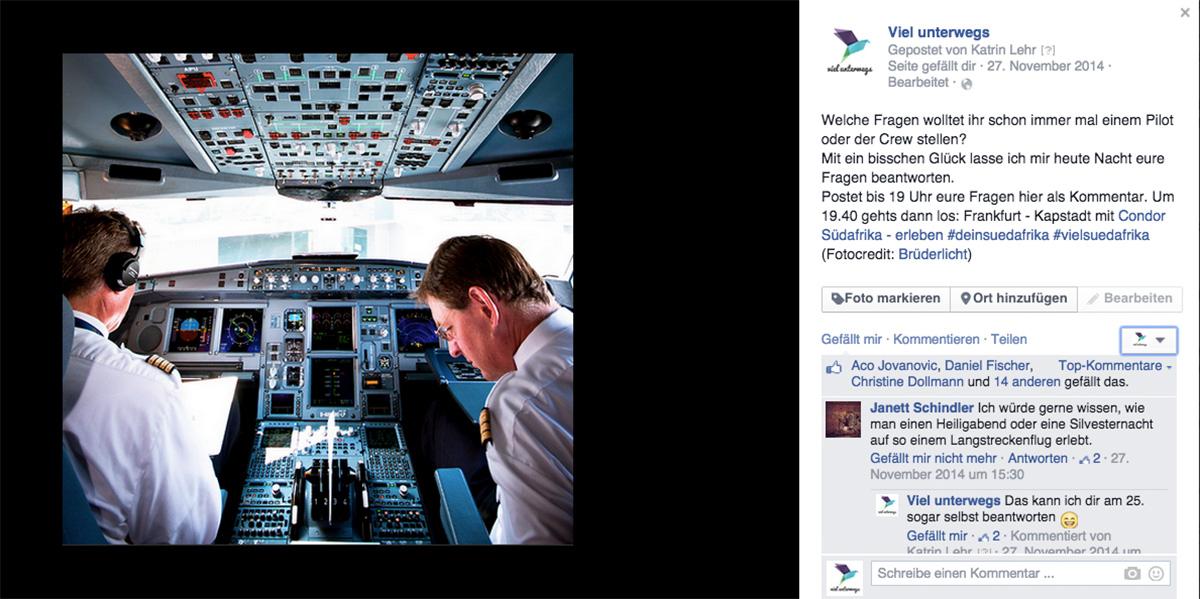 Fragen an Piloten