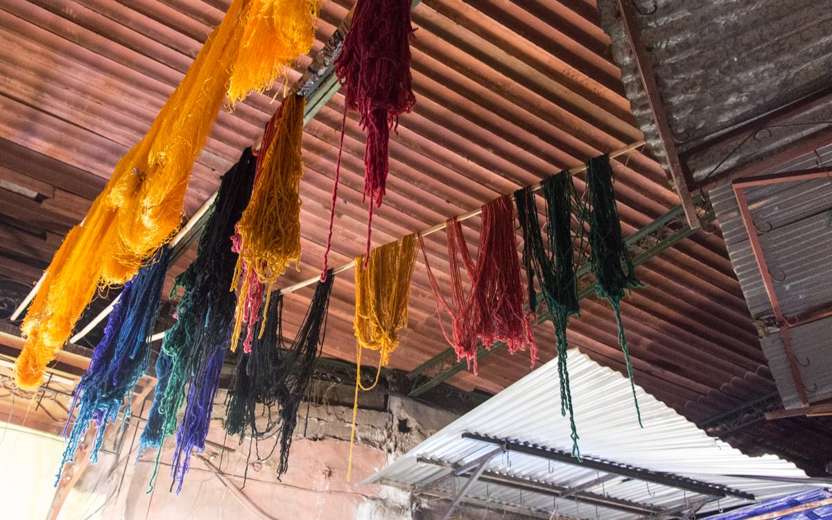 Souk der Färber Marrakesch