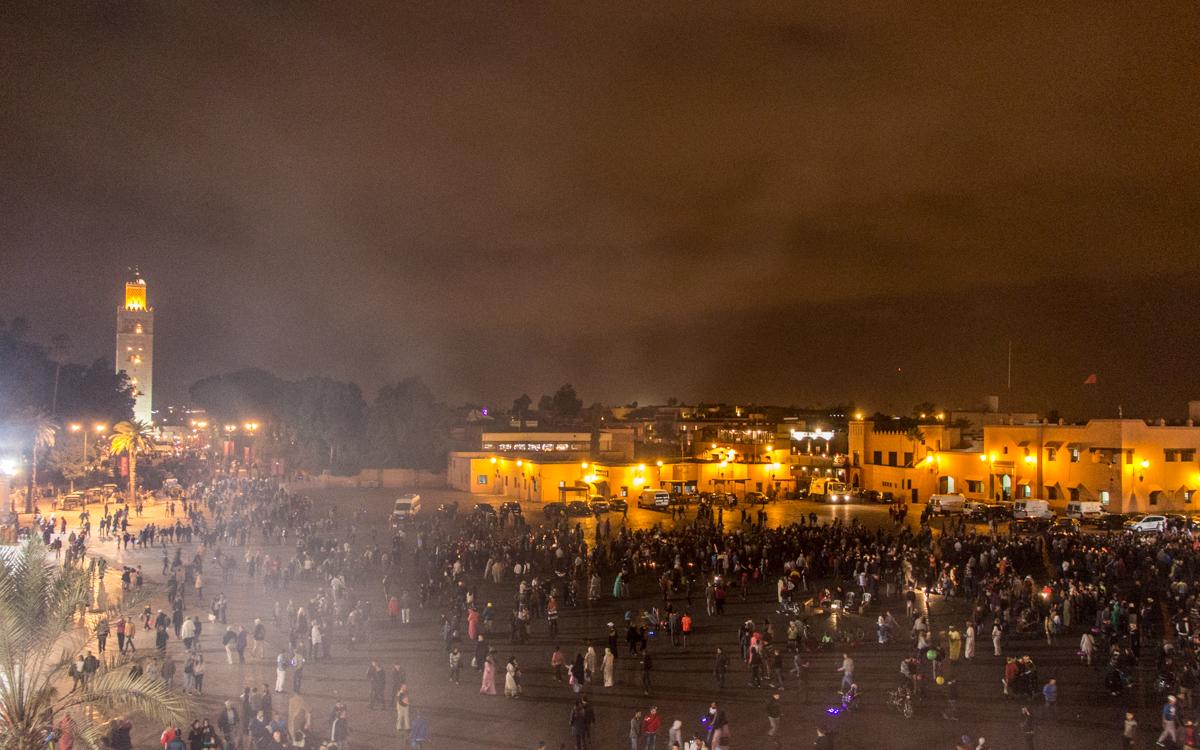 Marrakesch Sehenswürdigkeiten Djemaa el-Fna