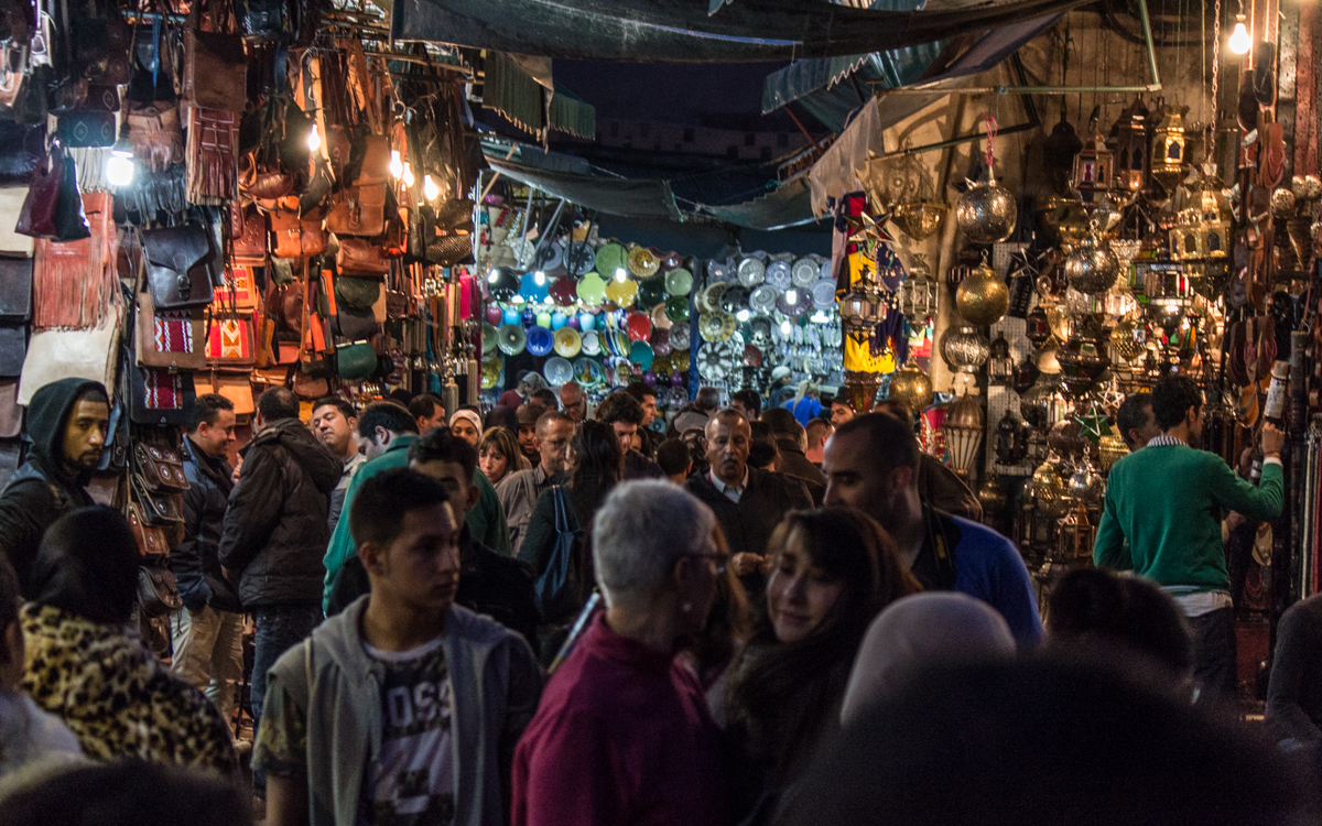 Marrakesch Sehenswürdigkeiten Reisetipps Gedränge in den Souks