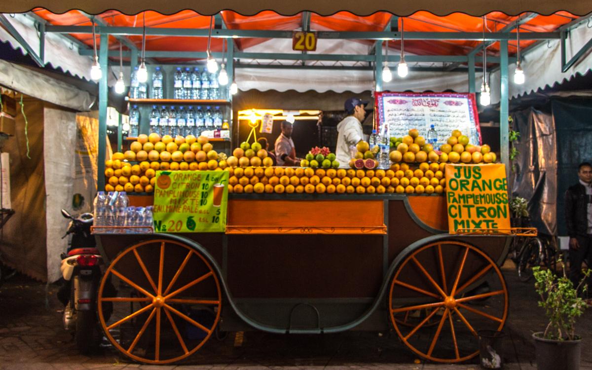 orangensaft-djemma el fna-marrakesch