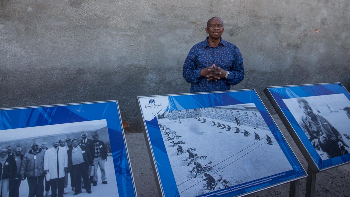 Robben Island Tour im Innenhof Ausstellung