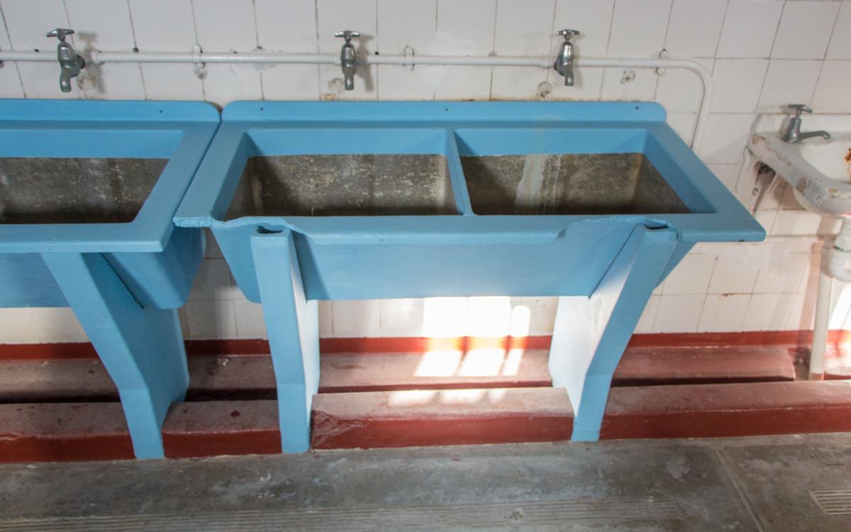 Robben Island: Waschbecken für Insassen