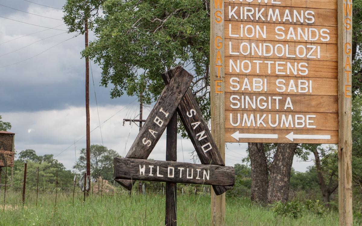 Der Eingang des Sabi Sands Wildtuin - zu welchem auch Sabi Sabi gehört