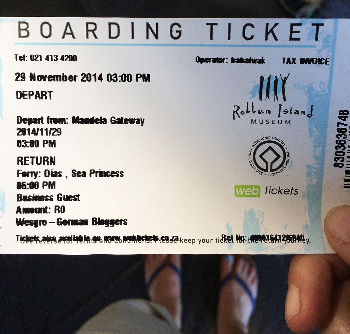 Robben Island Tour: Mein Ticket für Robben Island