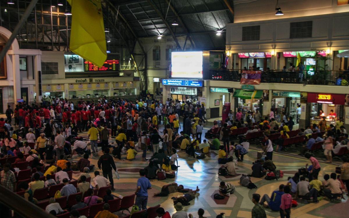 Bahnhof in Bangkok Inselhopping Thailand