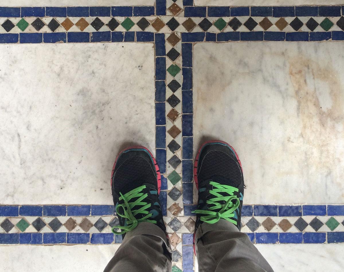 Marrakesch Sehenswürdikgeiten Bahia Palast bunte Böden