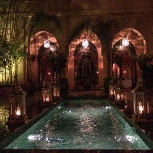 Dar Yacout Essen in Marrakesch Innenhof