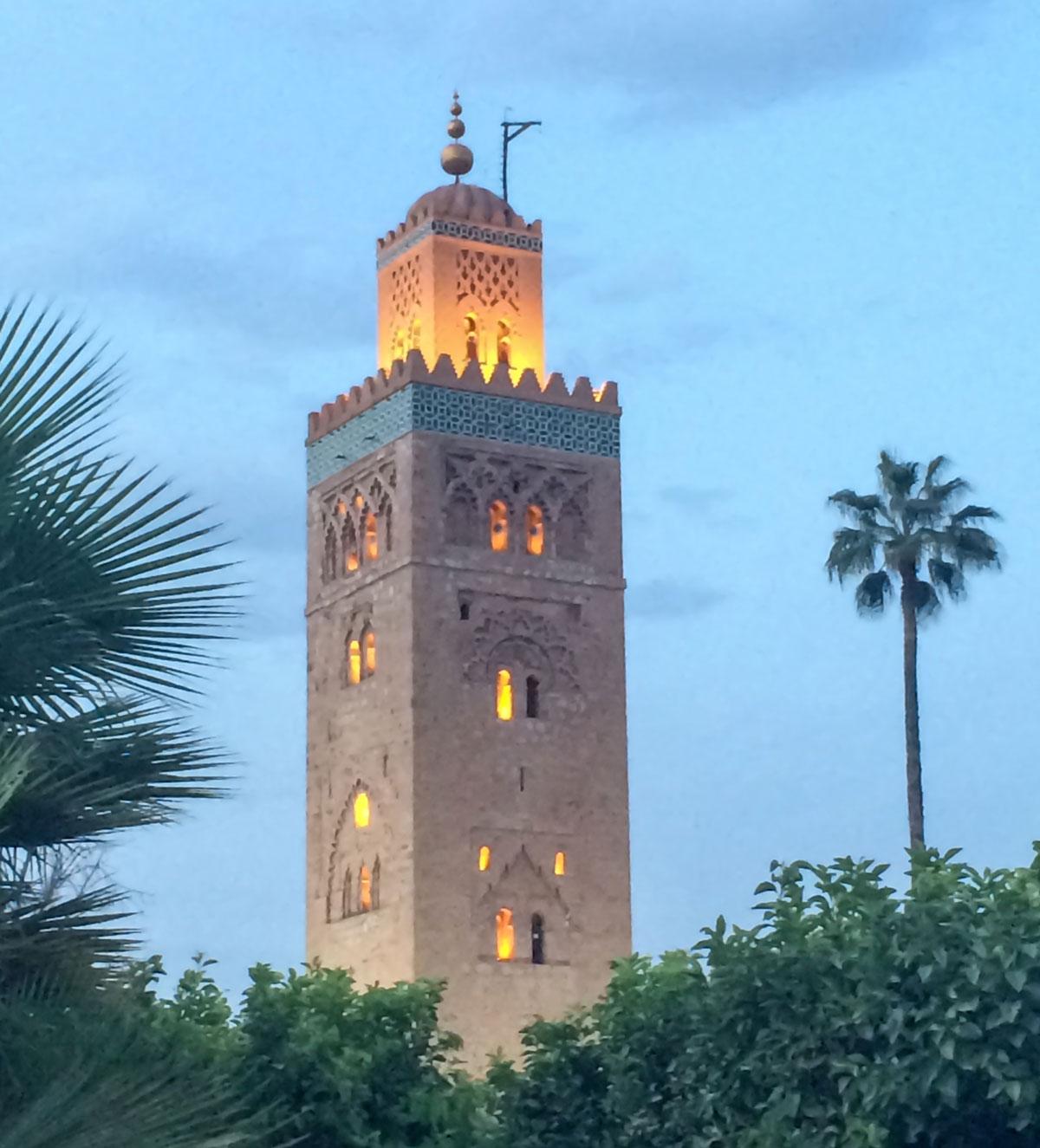 Koutoubia Moschee eine der Sehenswürdigkeiten in Marrakesch