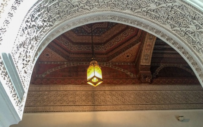 Marrakesch Sehenswürdikgeiten Bahia Palast innen