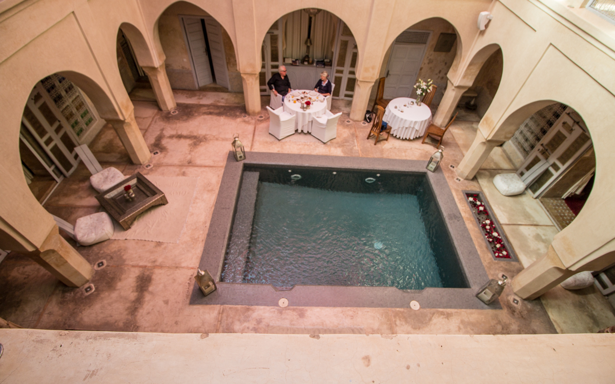 Marrakesch Riad Analeya Innehof Pool