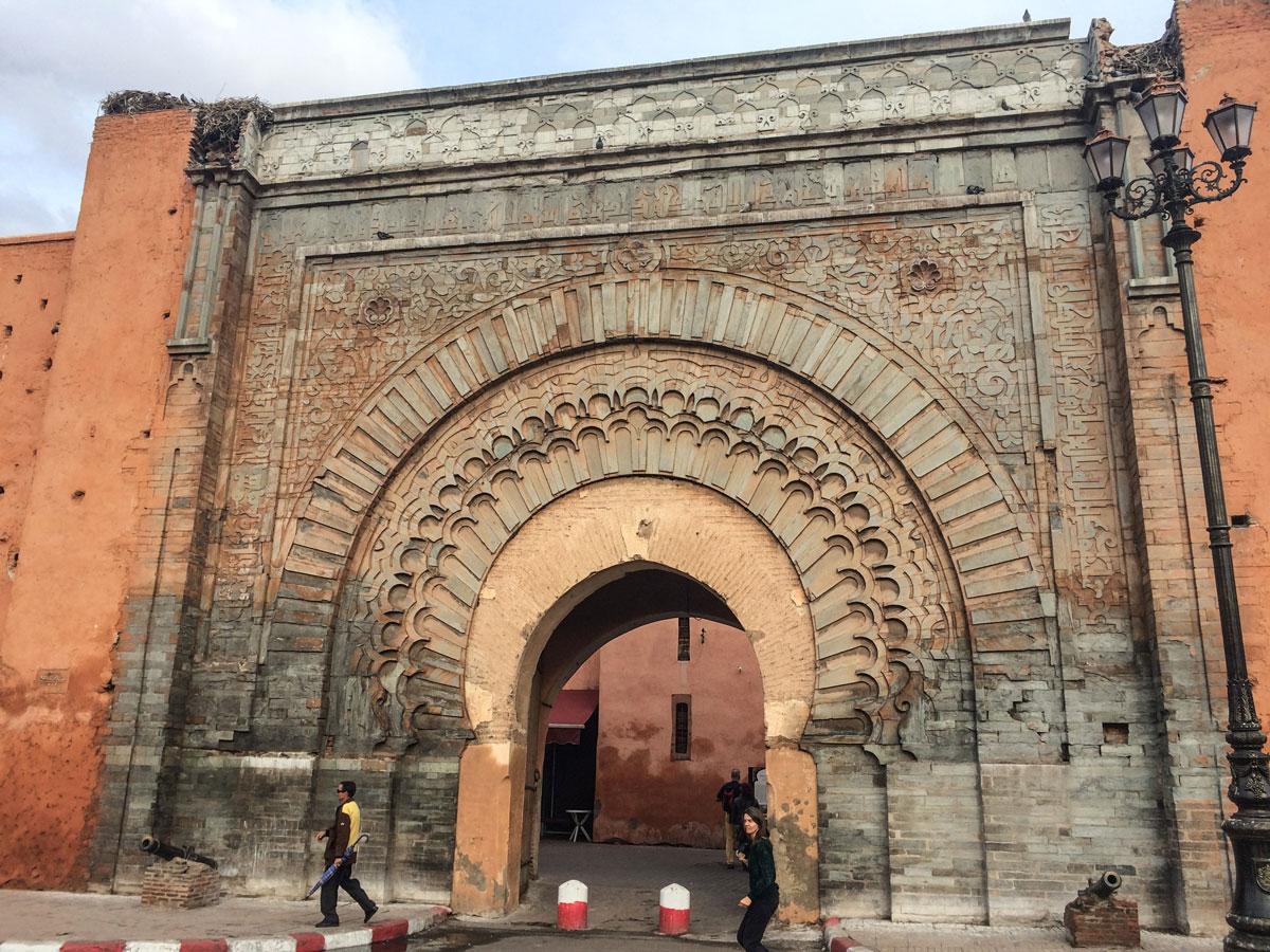 Marrakesch Sehenswürdigkeiten Störche in Marrakesch