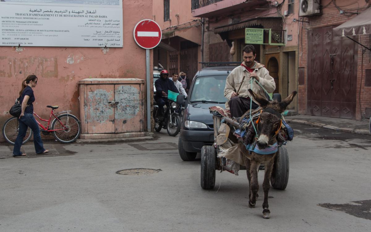 Marrakesch Verkehr Transport