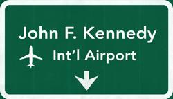 Flughafen New York City Flughafen JFK Schild