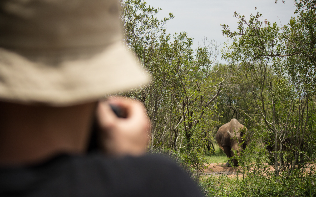 Swasiland Bush Walk Nashörner