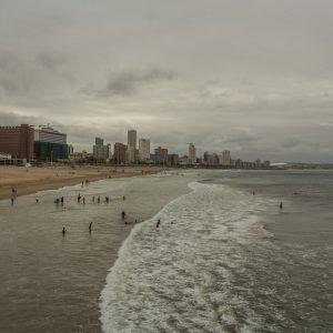 Durban Südafrika Panoramablick Pier Strand