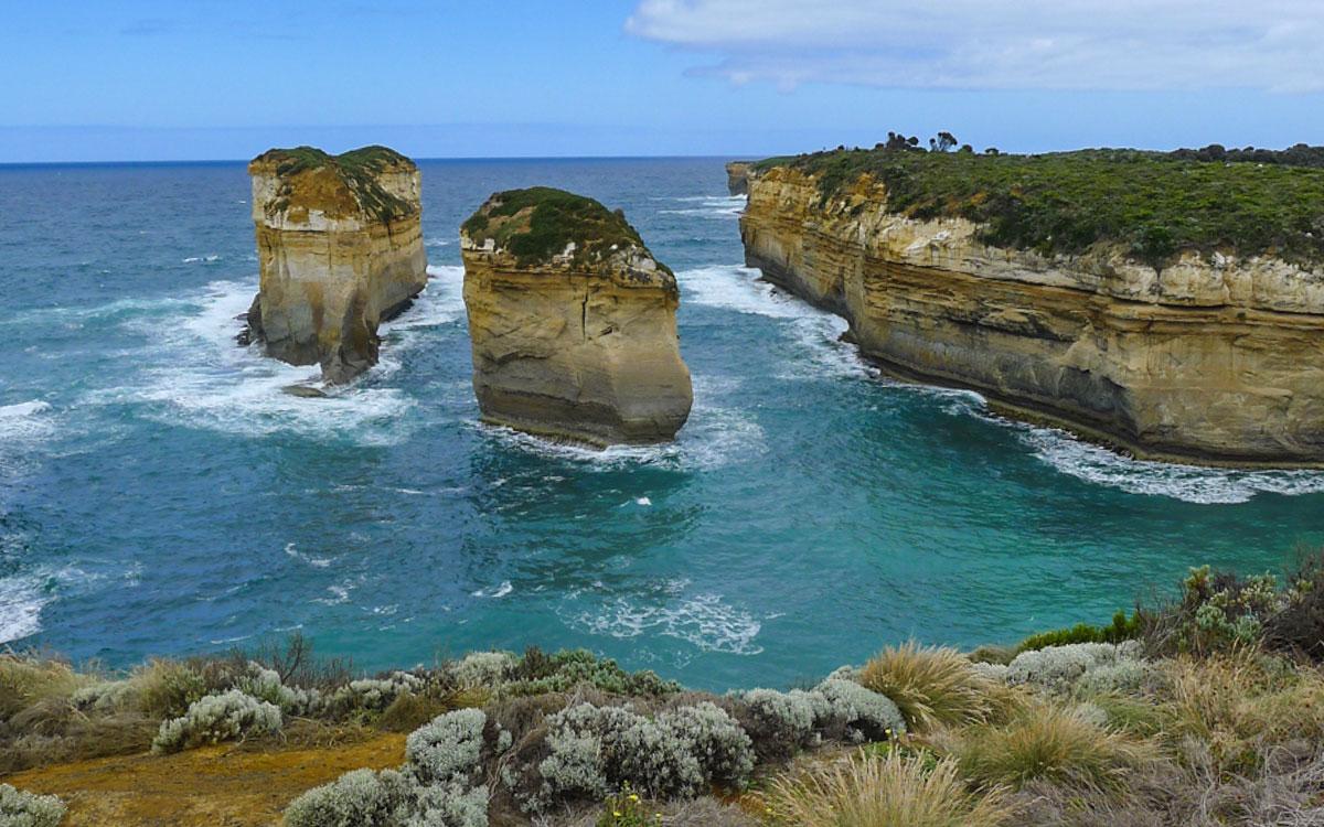 Melboure Sehenswürdigkeiten Great Ocean Road Felsen