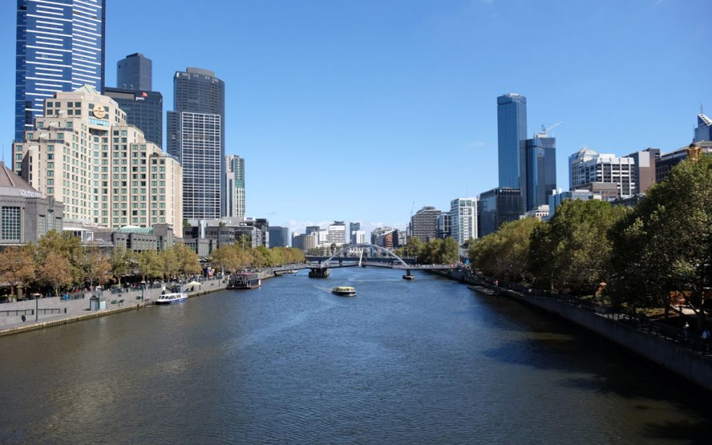 Melbourne Yarra River und CBD