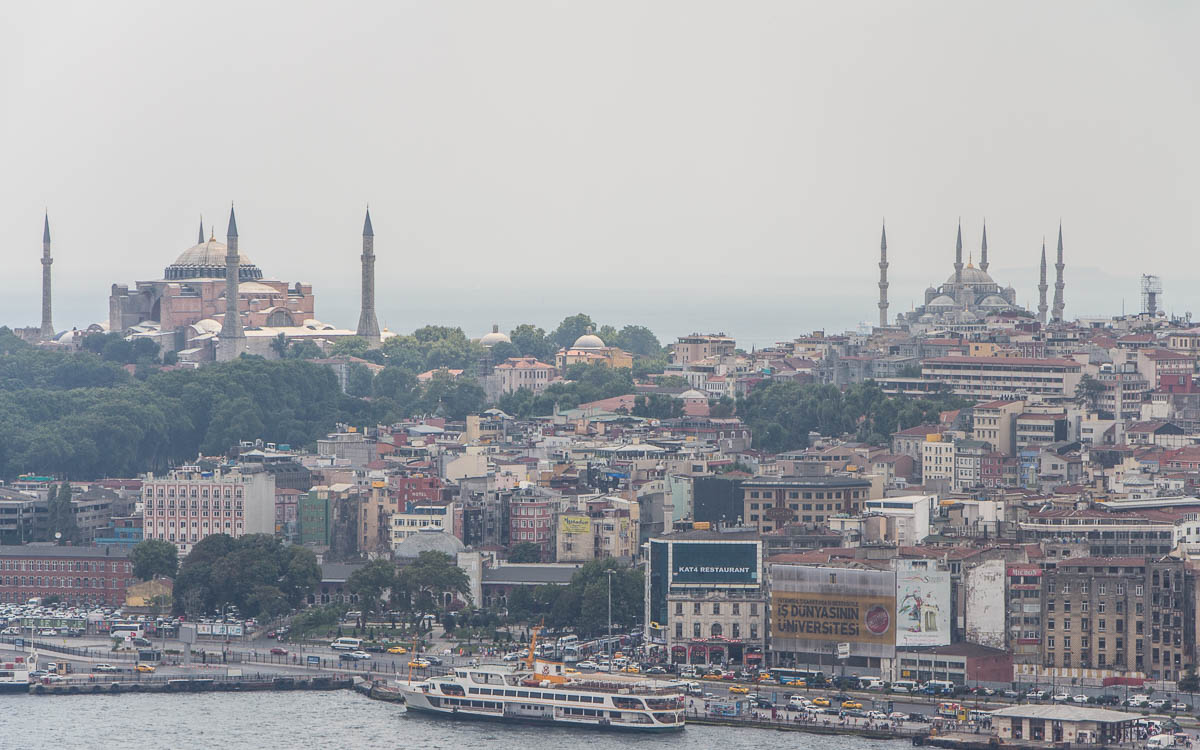 Istanbul Galataturm Ausblick Sultanahmet