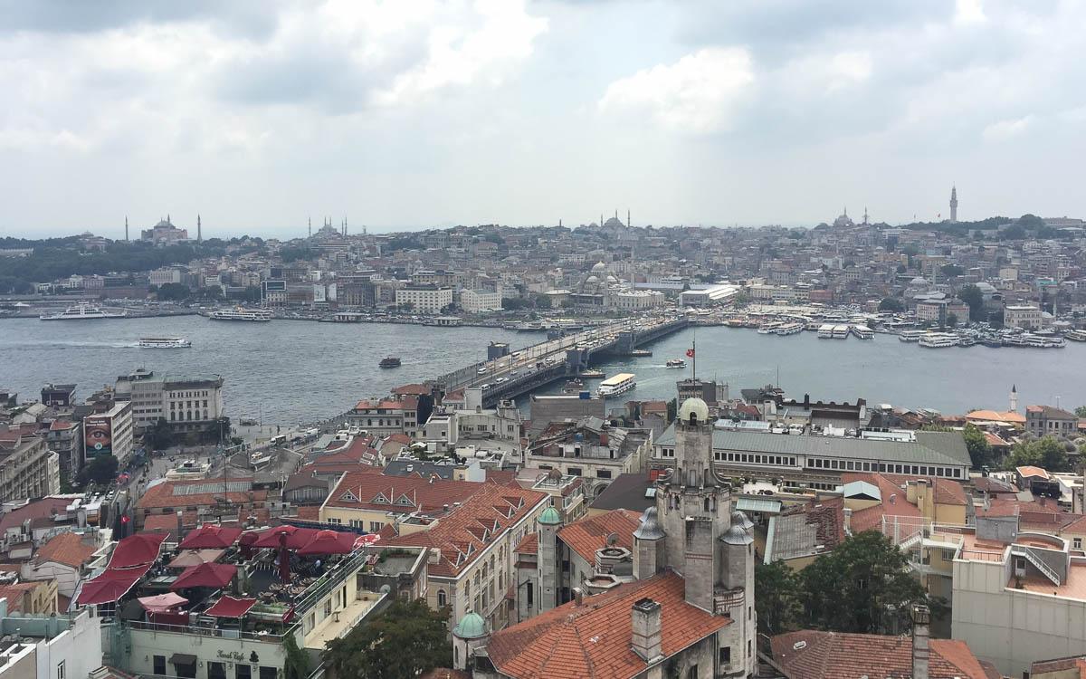 Istanbul Sehenswürdigkeiten Ausblick Galata Turm
