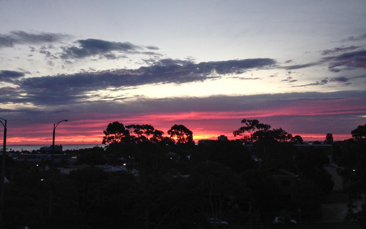 Melbourne Sehenswürdigkeiten Sonnenuntergang