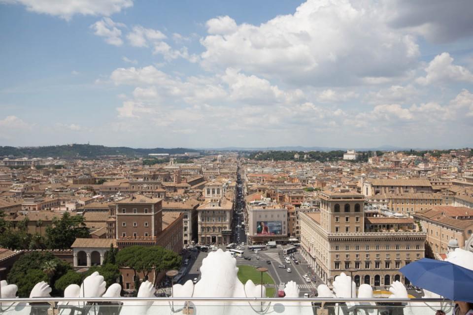 Ausblick Vittoriano Rom von oben