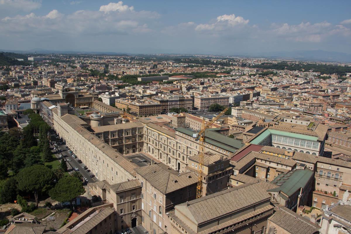 Ausblick Petersdom Vatikan Museum