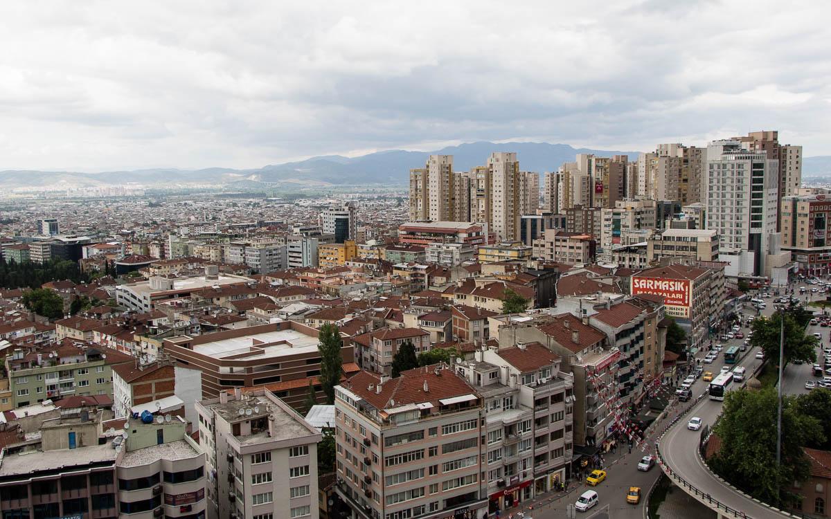 Bursa Ausblick Stadt