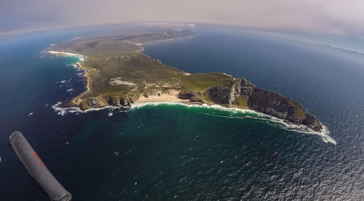 Kapstadt Sehenswürdigkeiten Cape Point aus Helikopter Sicht