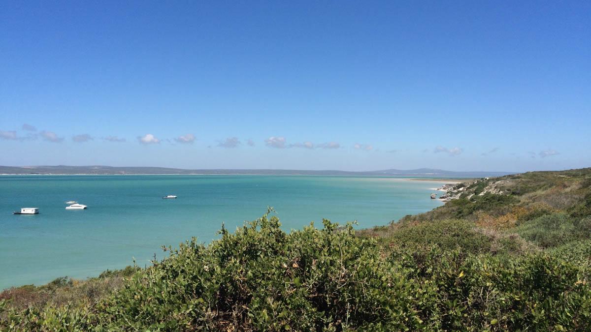 Lagune in Langebaan Westküste Südafrika