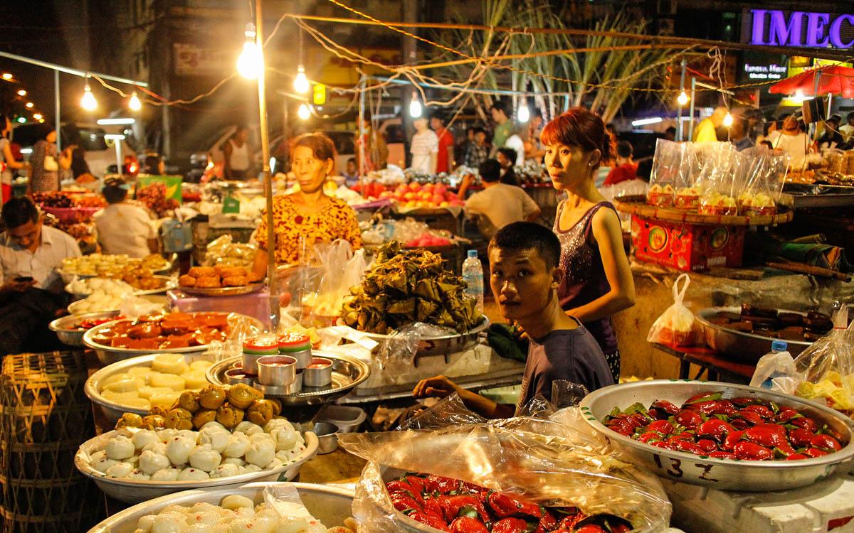 Myanmar Rundreise Essen kosten Markt