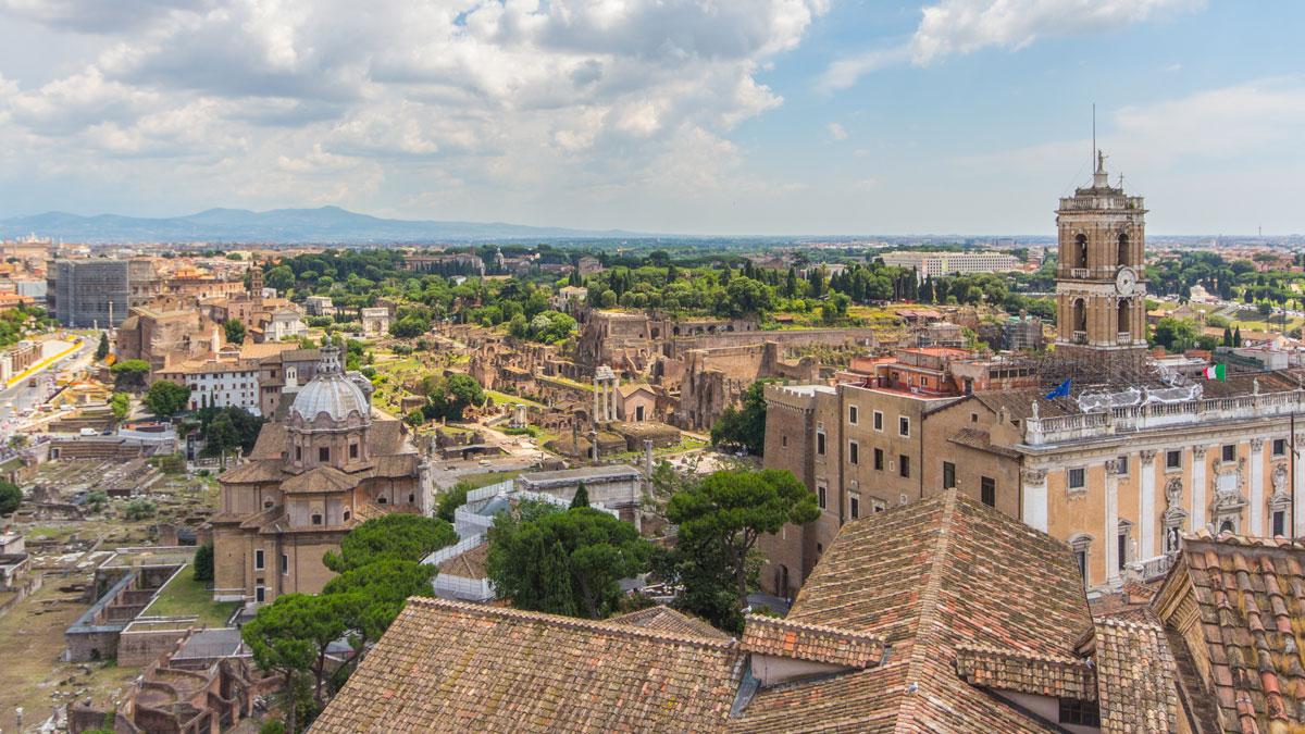 Rom zählt zu den schönsten Städten Europas :Vittoriano Dachterrasse
