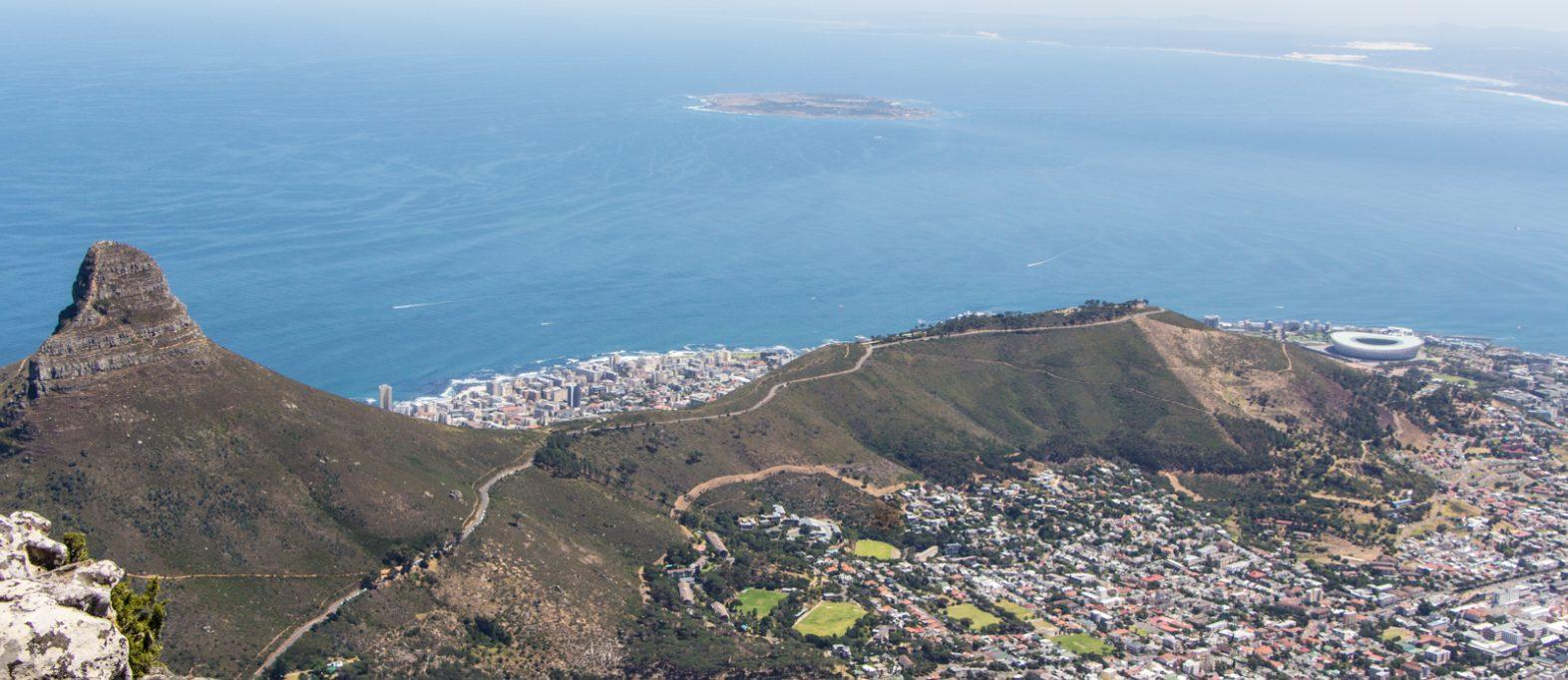Panorama vom Tafelberg Lions Head Robben Island
