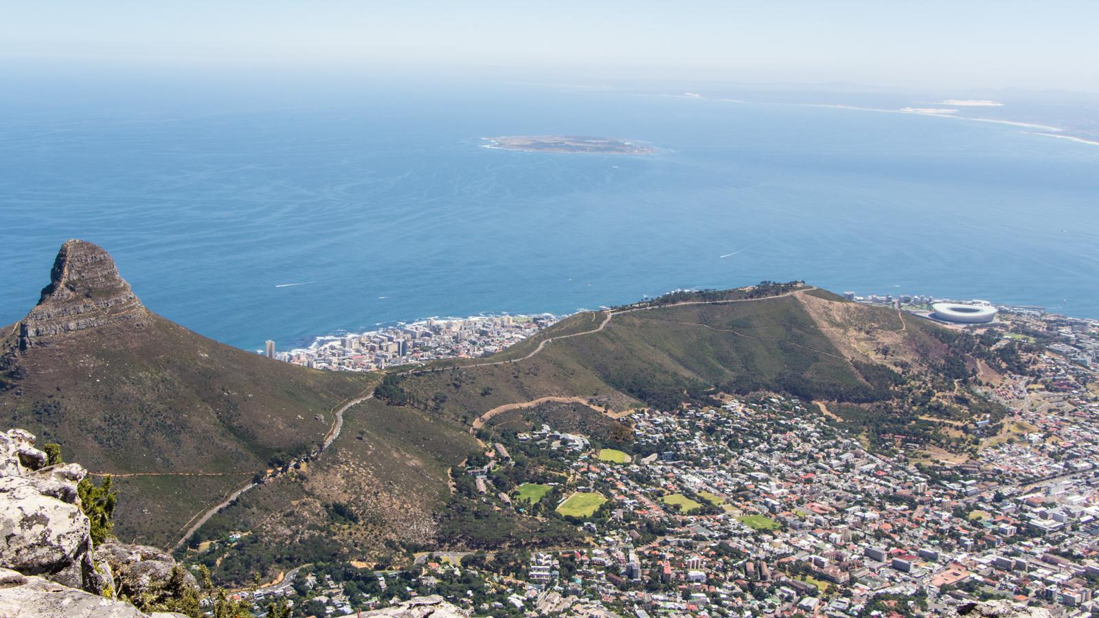 Kapstadt Sehenswürdigkeiten Panorama vom Tafelberg Lions Head Robben Island